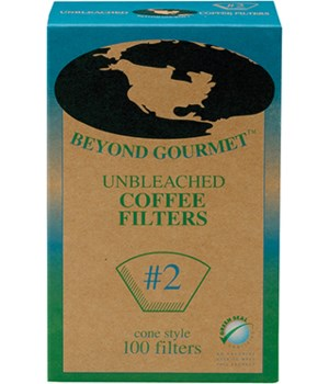 UNBLEACHED FILTER #2 100PK