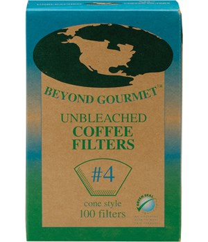 UNBLEACHED FILTERS #4 100PK