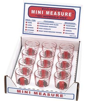 MINI MEASURE RED DISP/12
