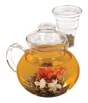 BOROSILICATE TEA POT 40OZ