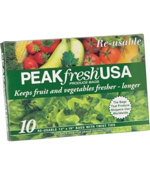 PEAKFRESH PRODUCE BAGS/TIES 10