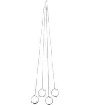 SKEWERS 12 in.CHROME (4)  628
