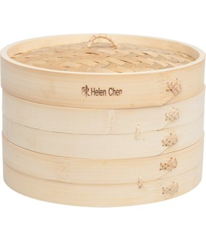 BAMBOO STEAMER 10 in. 3 PC SET