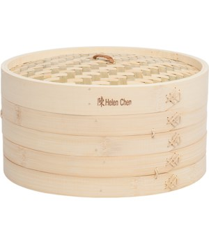 BAMBOO STEAMER 12 in. 3 PC SET