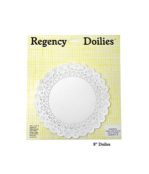 8 in. ROUND PAPER DOILIES  CD/18