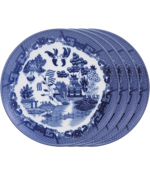 PLATE DINNER BLUE WILLOW SET/4