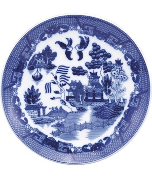 PLATE BUFFET BLUE WILLOW 12.25