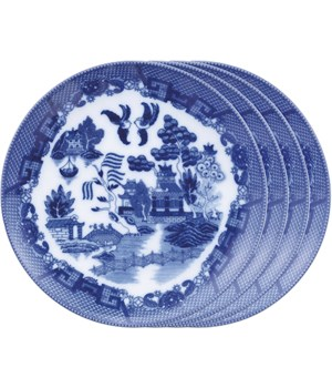 PLATE BLUE WILLOW 7.75  SET/4