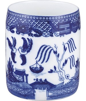 UTENSIL HOLDER BLUE WILLOW