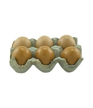 Brown Resin Egg, 2 Asstd.
