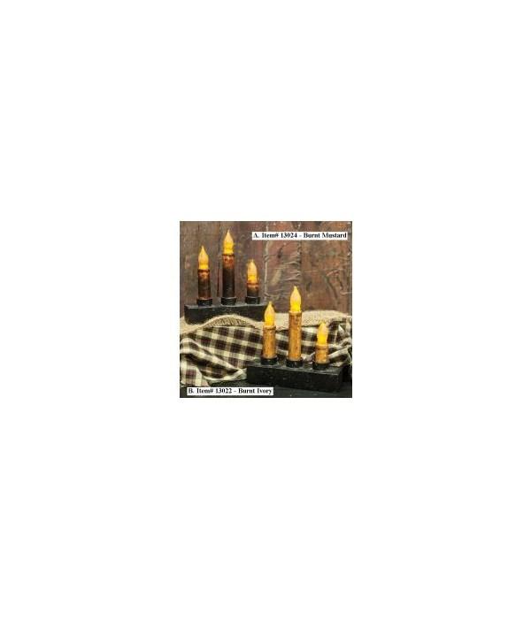 Nook Candelabra Burnt Mustard - BOC Timer
