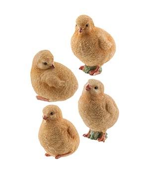 Resin Chick, 4 Asstd... 2.5 x 3   in.