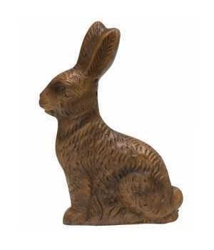 Resin Chocolate Bunny Figurine, 5 inch 3x 1x 5 in.