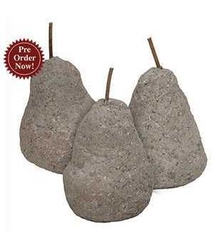 Cement Pear, 3 Asstd. 3 x 3 x 5 in.