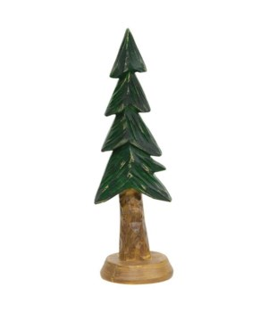 Resin Carved Alpine Tree,  40 in.