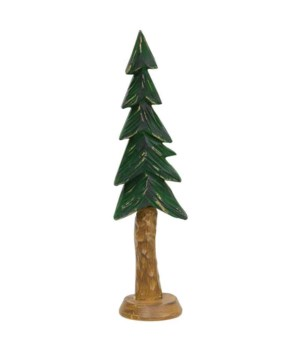 Resin Carved Alpine Tree, 9 in.