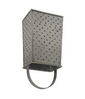 Galvanized Metal Grater Towel Holder.... 8 h x 4  w x 3  D in.