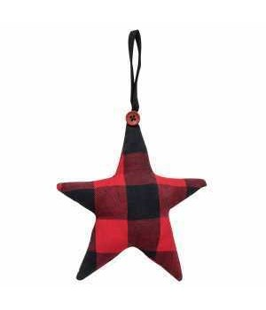Filled Star ornament (ONE BAG HAS 4 PCS) 4.5h x 4.5w in.