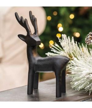 Cast Iron sTanding Reindeer Figurine 5.5 l x 1.5  w x 7.5  h in.