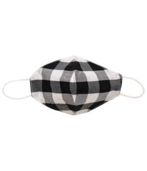 Black & White Plaid Face Mask