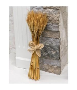Wheat Bundle w/ Burlap Bow 20 long in.