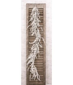 Winter White Sparkle Eucalyptus Garland 9  h x 9  w x 48  dp. in.