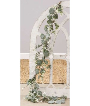 Glitter Frosted Eucalyptus Garland 6 h x 48 w x 6 dp. in.