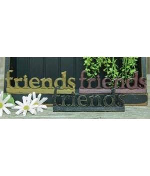 Friends Standing Resin Word, 3 Asstd. 6.5 in.