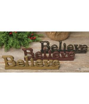 Believe Standing Resin Word, 3 Asstd.* 8.5 in.