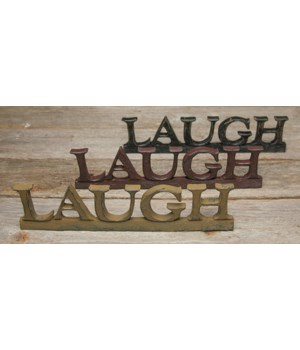 Laugh  Resin Sign - 3 asst. 10.5 in.