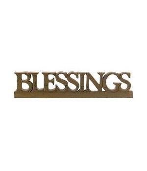 BLESSINGS  Resin Sign - 3 asst.* 15 in.