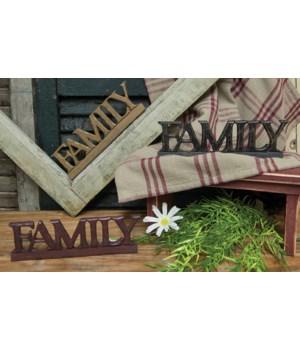 FAMILY  resin sign - 3 asst 7.5 in.