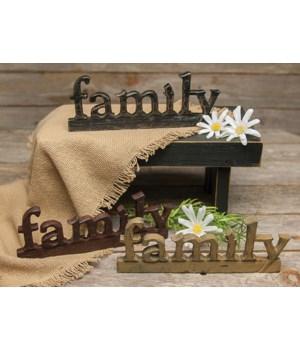 family  Resin Sign - 3 asst. 6.25 in.