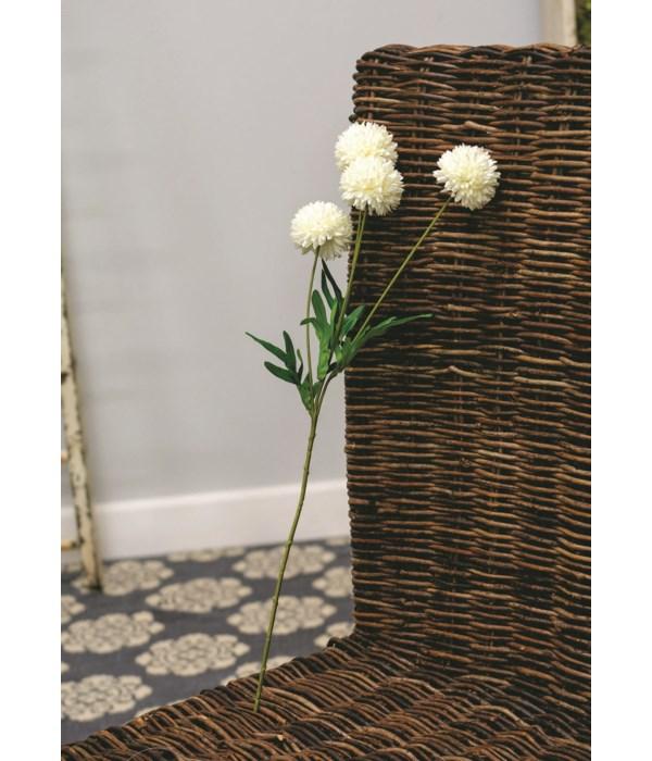 M20 Chrysanthemum Ball Spray, 23 , White 23  l, flowers 2.5  in.