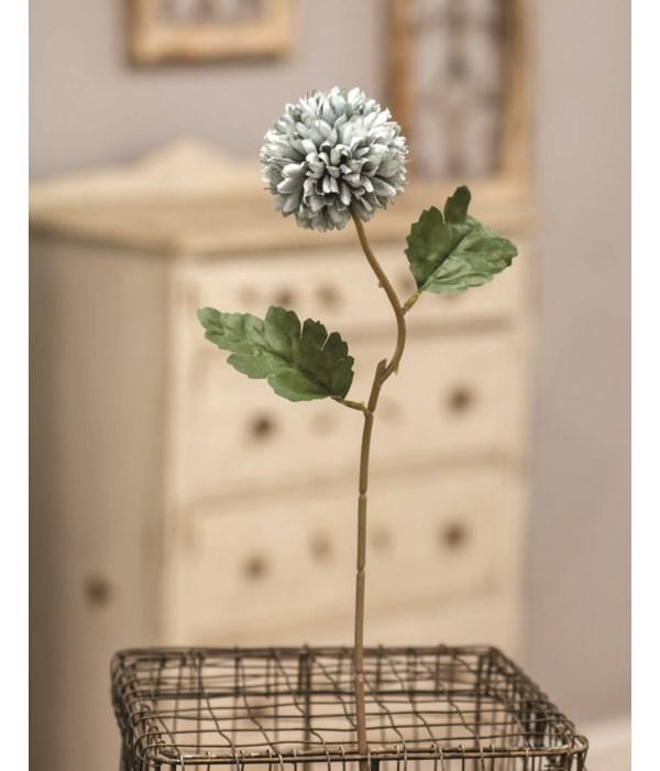 M20 Pompom Flower Stem, Blue 14 l, flower is 2.5  dia in.
