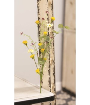 Yellow Wildflowers Pick, 14  14 l in.