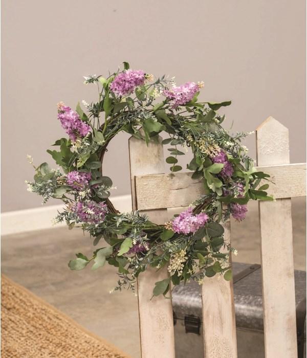 Purple Wildflowers Wreath, 24  10 in, 24 out in.