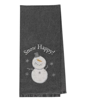 Snow Happy Dish Towel 18  x 28  in.