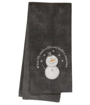 Build a Snowman Dish Towel 18  x 28  in.