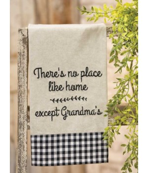 No Place Like Home Dish Towel.. 18  x 28  in.