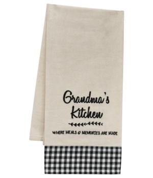 Grandma's Kitchen Dish Towel 18  x 28  in.
