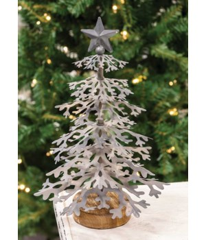 Galvanized Christmas Tree Small 6.5 x 12 in.