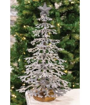 Large Metal Christmas Tree 10 x 17  in.