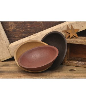 Primitive Colors Small Wooden Bowl, 3 Asstd. 5 1/2  x 1 3/4  in.