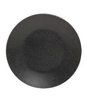 Black Wooden Plate, 6  6 dia in.