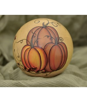 Pumpkins Hand Painted Decorative Ball 4 in.