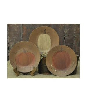 Classic Pumpkin Plates - 3 asstd 6 in.