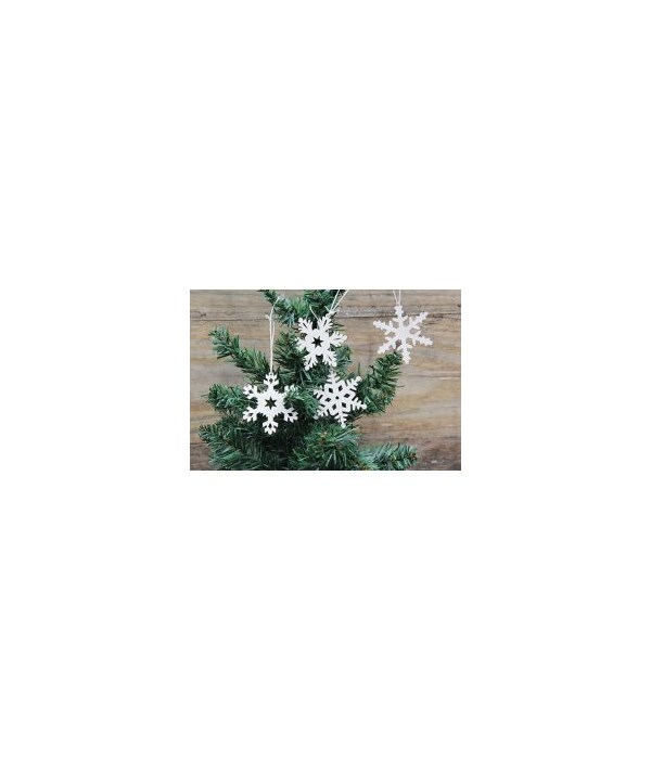 24/Set, Snowflake Ornaments 2.5 in.