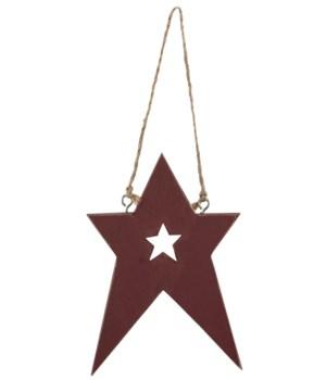 M36 Folk Cutout Star Ornament, 4 Asstd. 3 7/8 h in.