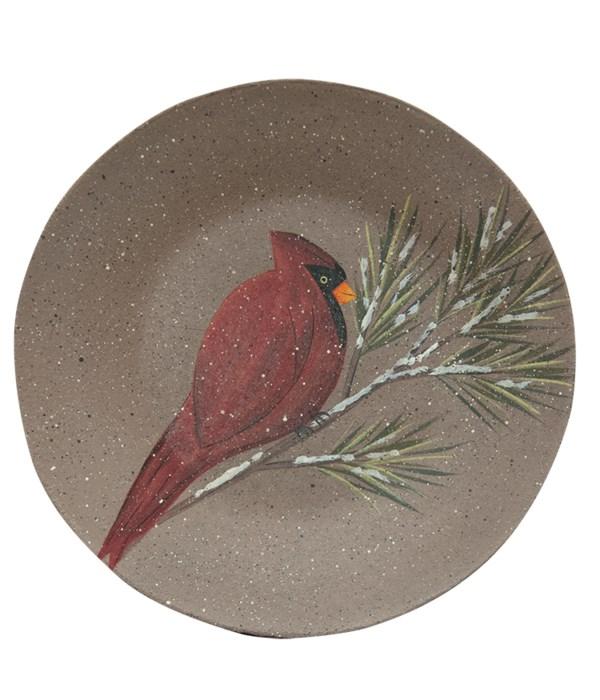 Cardinal Snowman Plate, 2 Asstd. 9.75 in.